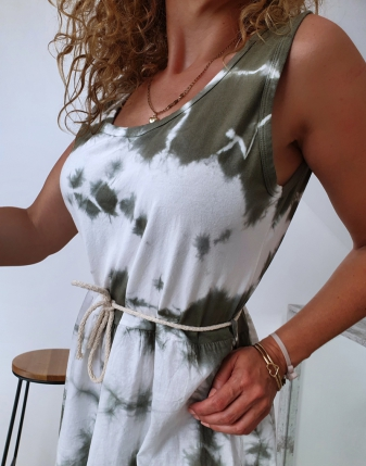 sukienka biało khaki 6