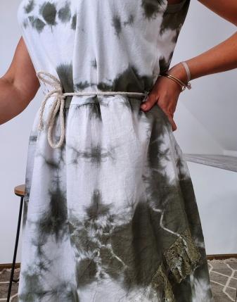 sukienka biało khaki 8