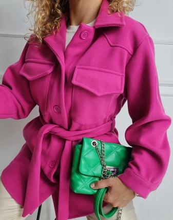 płaszczyk koszulowy różowy lamaja 2