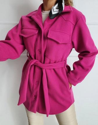 płaszczyk koszulowy różowy lamaja 7
