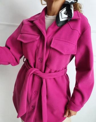 płaszczyk koszulowy różowy lamaja 8