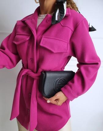 płaszczyk koszulowy różowy lamaja 11
