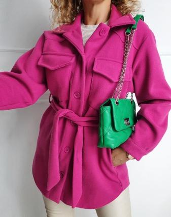 płaszczyk koszulowy różowy lamaja 14