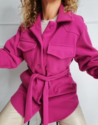 płaszczyk koszulowy różowy lamaja 16