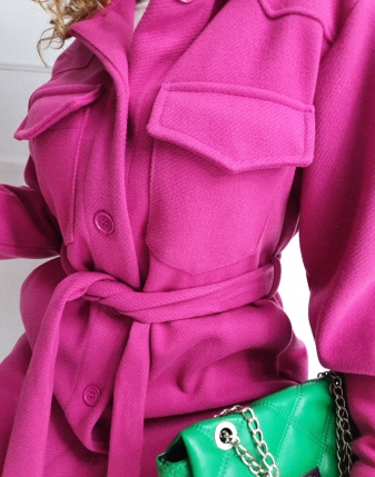 płaszczyk koszulowy różowy lamaja 19