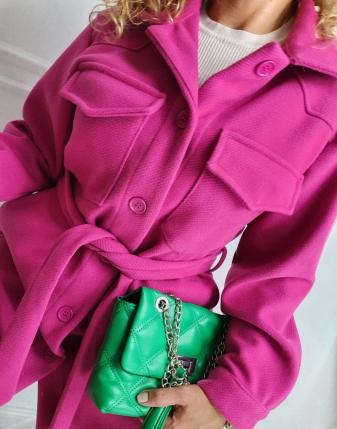 płaszczyk koszulowy różowy lamaja 20