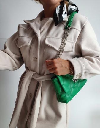 jasny płaszcz  z paskiem 13