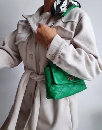 jasny płaszcz  z paskiem 15