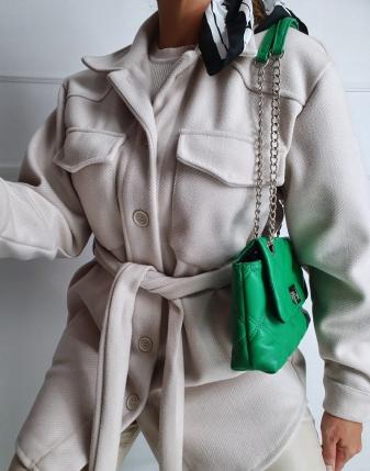 jasny płaszcz  z paskiem 19