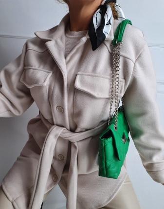 jasny płaszcz  z paskiem 20
