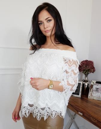 bluzka koronkowa biała
