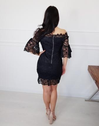 sukienka koronkowa czarna