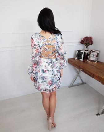 sukienka w kwiaty z wiązaniem 6