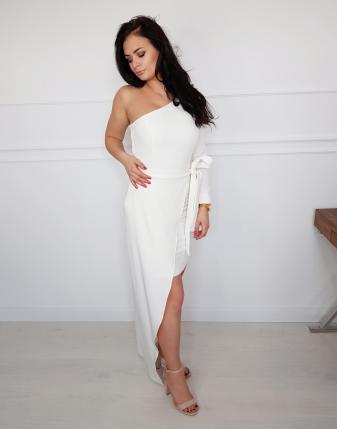 sukienka biała koktajlowa