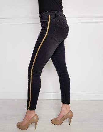 jeansy czarne
