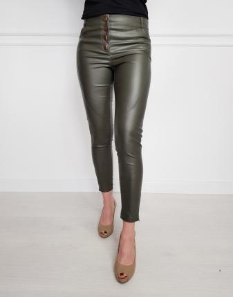 spodnie woskowane khaki