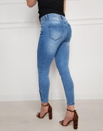 jeansy niebieskie