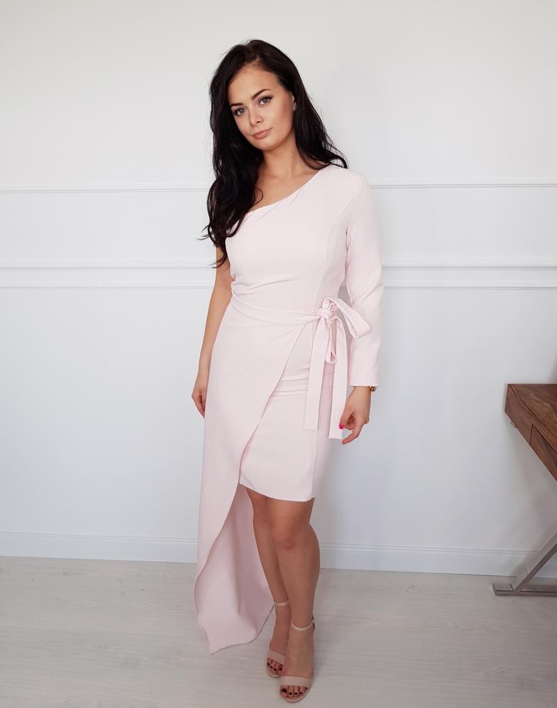 sukienka długa róż