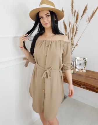 sukienka camel