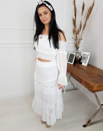 długa spódnica biała