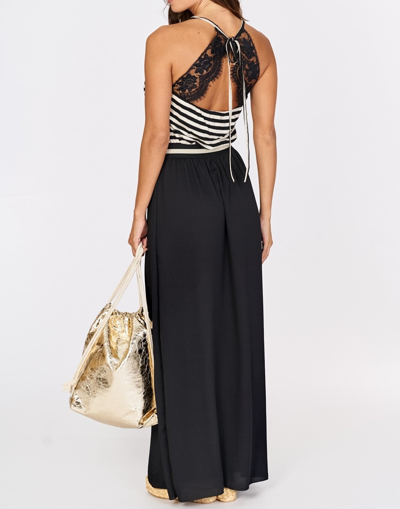sukienka w paski czarna