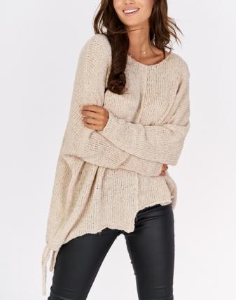 beżowy sweterek
