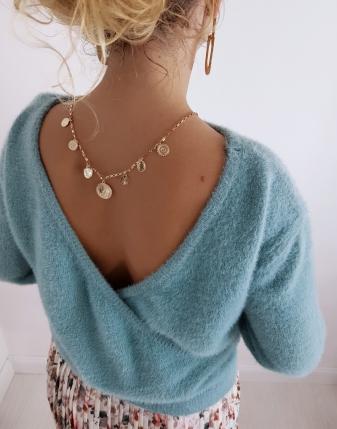 sweter turkusowy