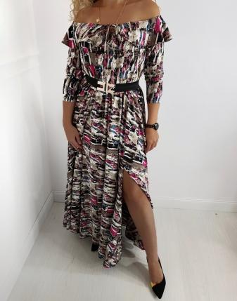 długa suknia kolorowa