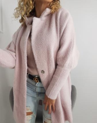 płaszcz alpaka róż