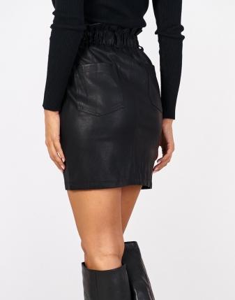 spódniczka skórzana mini czarna italia