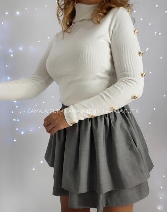 spódniczka mini szara