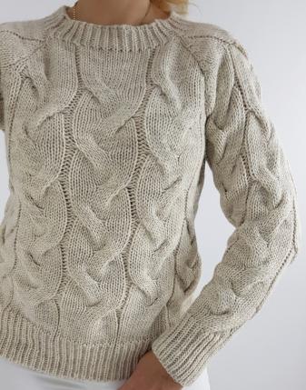 sweter z warkoczami