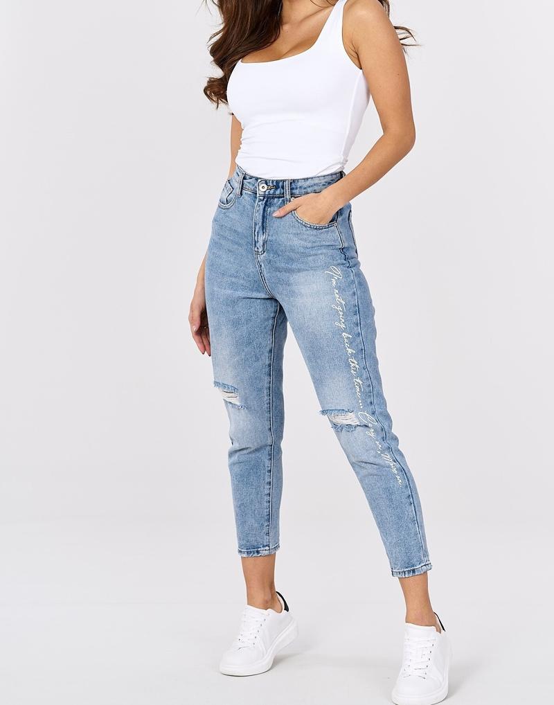 spodnie  jeansowe  z dziurami