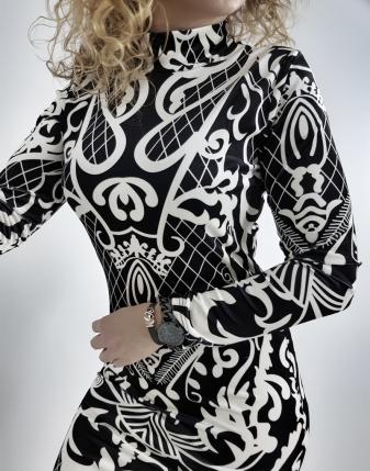 sukienka welurowa wzór