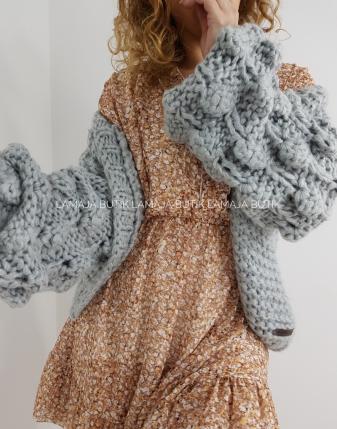 sweter bubbles szary