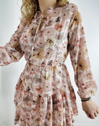 sukienka w kwiaty rózowe