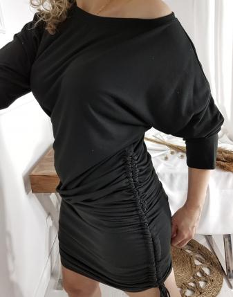 sukienka dresowa drapowana
