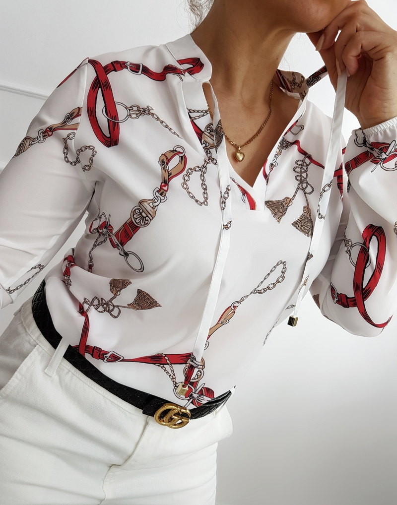 biała bluzka elegancka