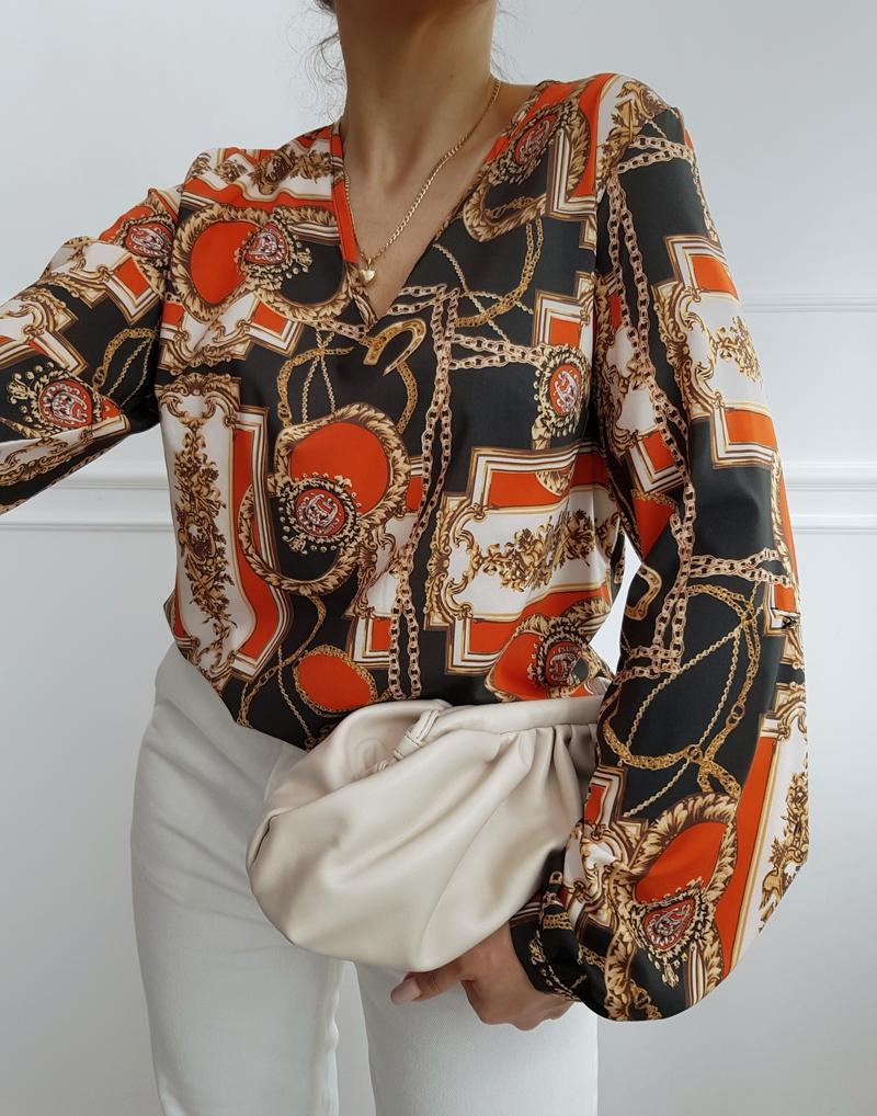 bluzka elegancka we wzory