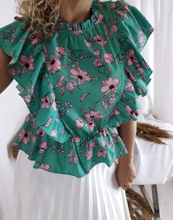 bluzka satynowa  w kwiatki