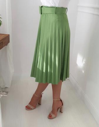 zielona spódnica plisowana