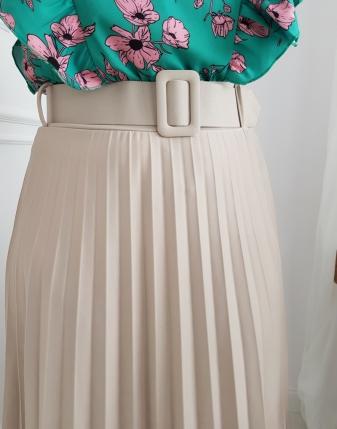 spódnica beżowa plisowana