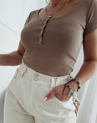 bluzka dopasowana basic 1