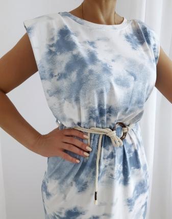 sukienka batik maxi jeans