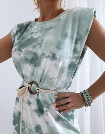 sukienka maxi batik turkus