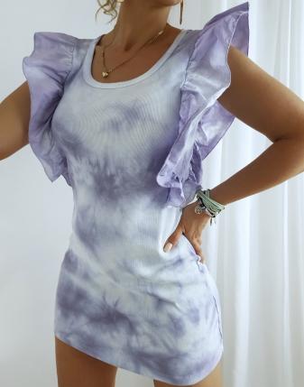 sukienka batikowa prążek