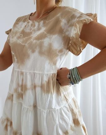 sukienka batik beż
