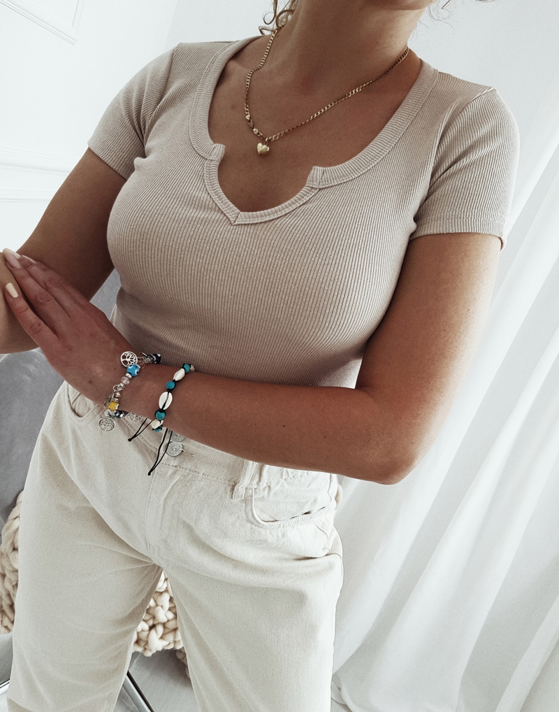 koszulka bawełniana prążek