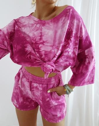 zestaw dres  różowy