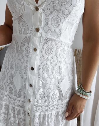 sukienka koronkowa biała
